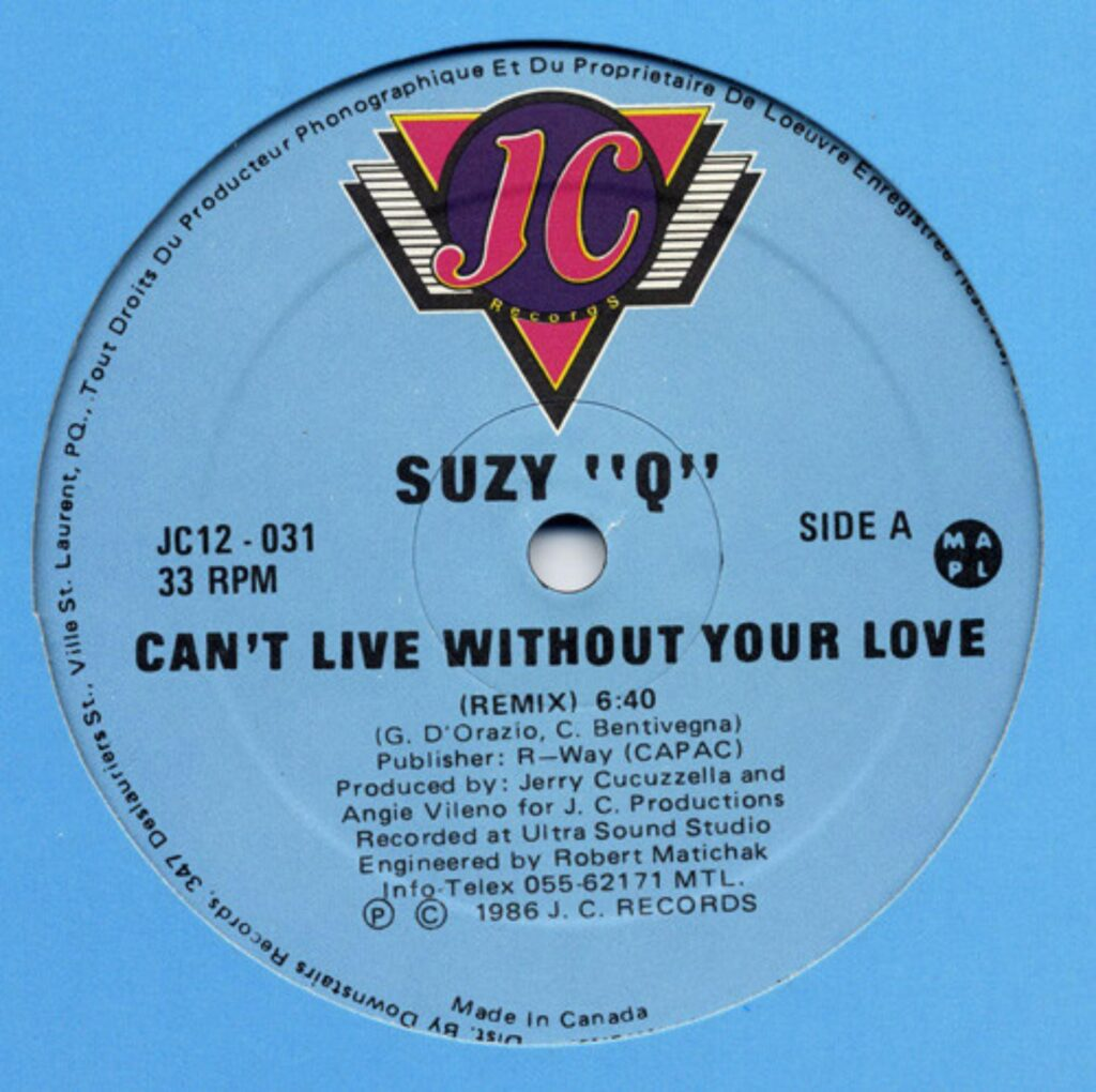 Suzy - Can't Live Without Your Love - 0 - italodisco.net